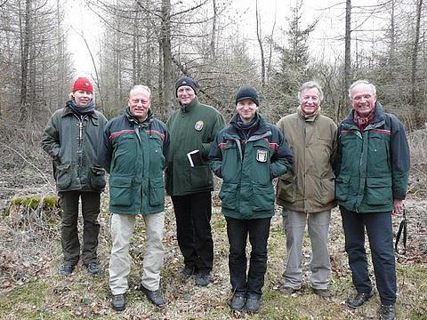 Hessen Forst besichtigt die Tubex - Versuchsfelder