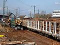 Ganzzugverladung und Transportlogistik - Holztransporte der Interforst GmbH