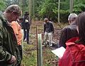 Waldbegehung in Großheubach 2010 - Demonstration der Tubex Bepflanzungen