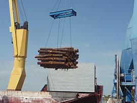 Die Häfen von Bordeaux und Bayonne sind ideal für Holzverladung