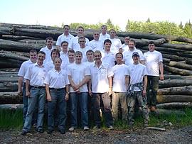 Teamfoto der Hess GmbH beim Helferfest vom Landkreis Siegen / Forstamt Hilchenbach