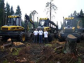 Bild - Forstmaschinen der Firma Ponsse