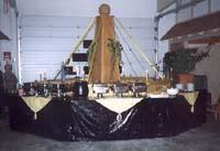 Bild - aufgebautes Buffet bei der Geburtstagsfeier von Herrn Schell